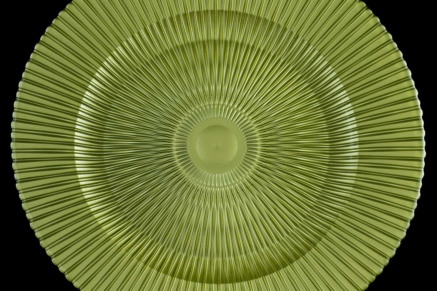 the citron green marbella charger plate from mandarin orange trading company, photographed by Jacob Rosenfeld