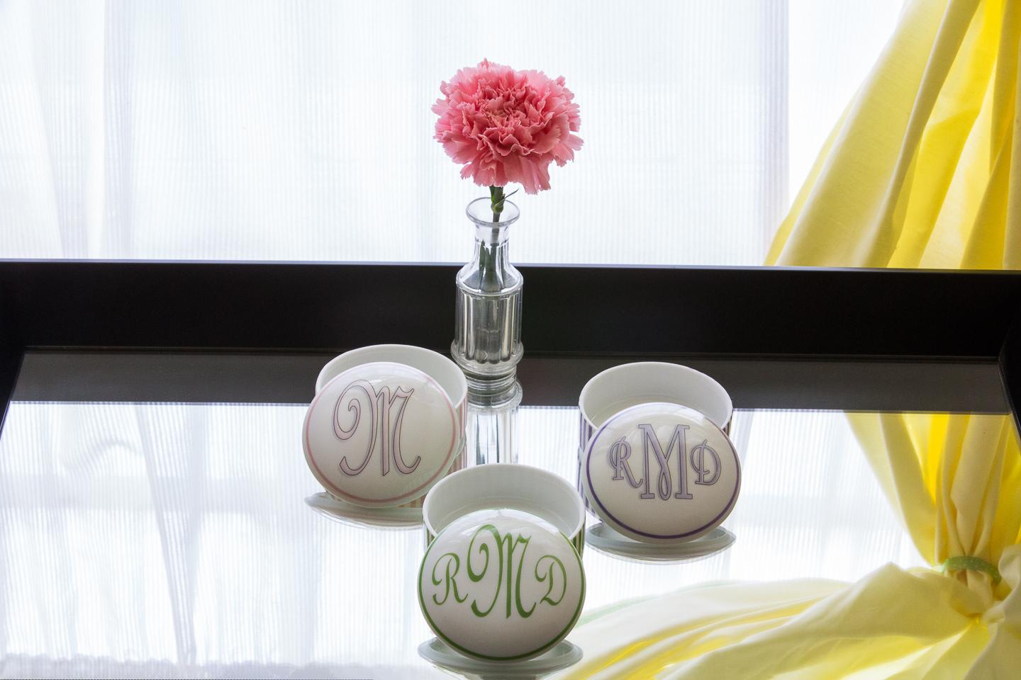 Monogrammed boxes