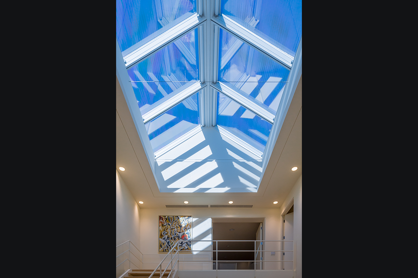 multi-story atrium featuring massive commercial skylight system 03, photographed by Jacob Rosenfeld Photography