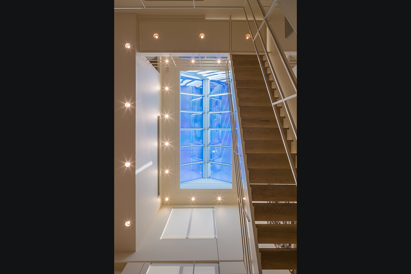 multi-story atrium featuring massive commercial skylight system 04, photographed by Jacob Rosenfeld Photography